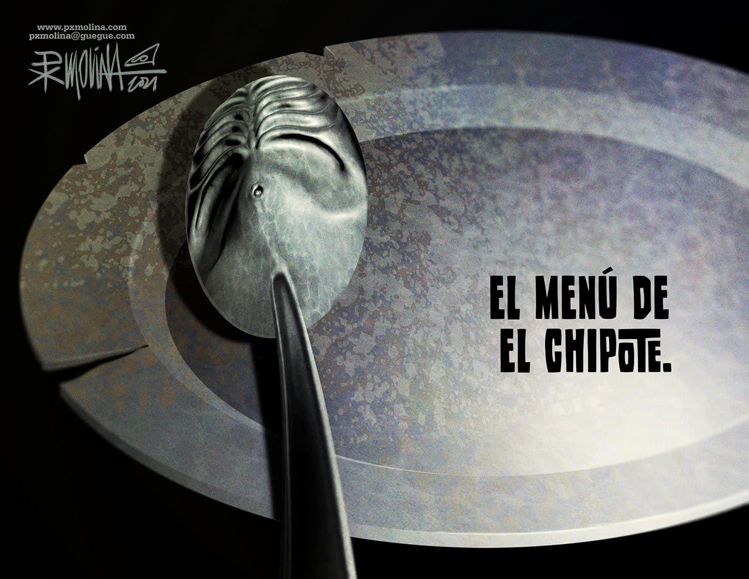 """Caricatura del día    El menú de """"El Chipote"""""""