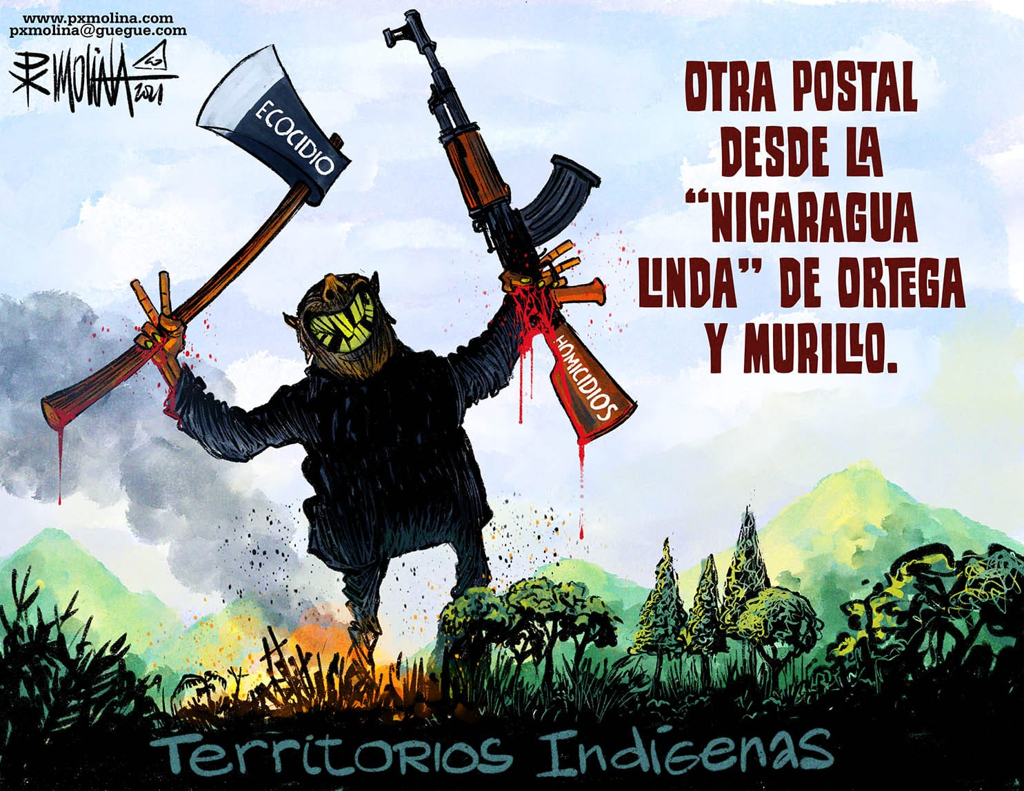 """Caricatura del día    La """"Niza Nicaragua"""" de la dictadura"""