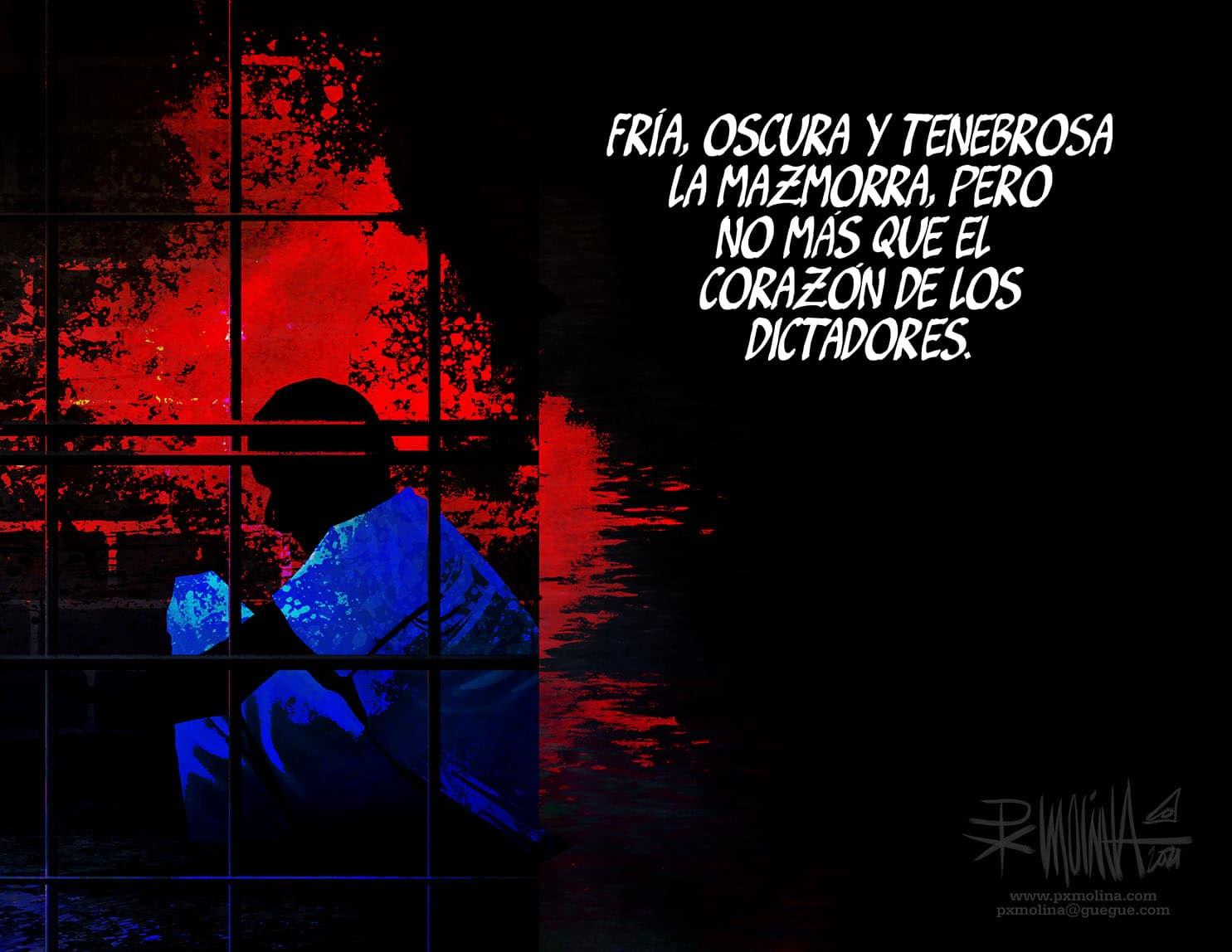 Caricatura del día    La dictadura oscura y lúgubre