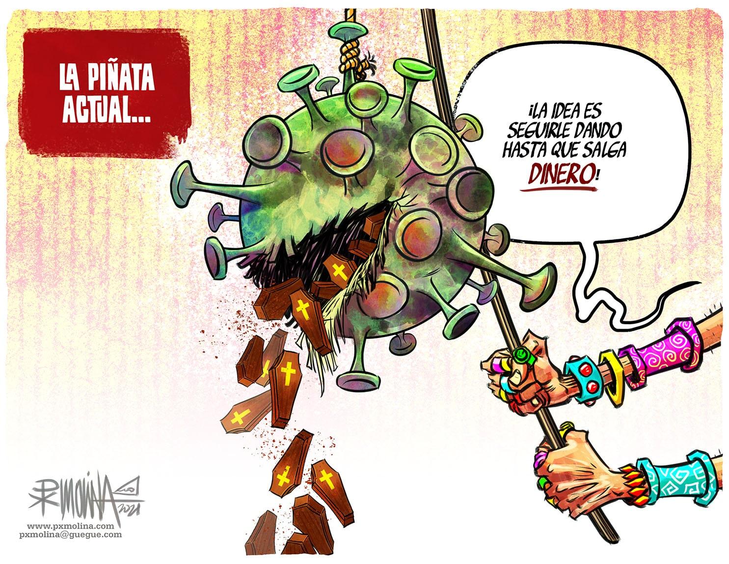 Caricatura del día    La piñata actual