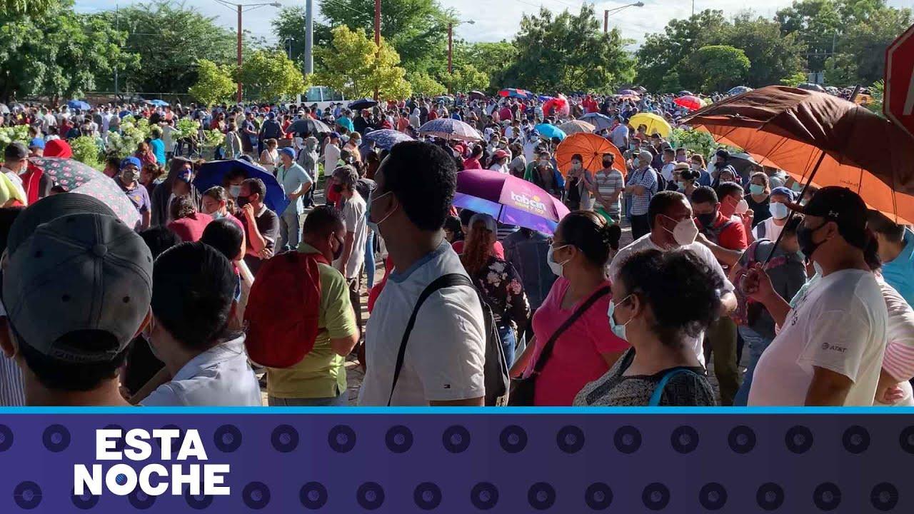 Desborde y multitudes en la vacunación de Nicaragua
