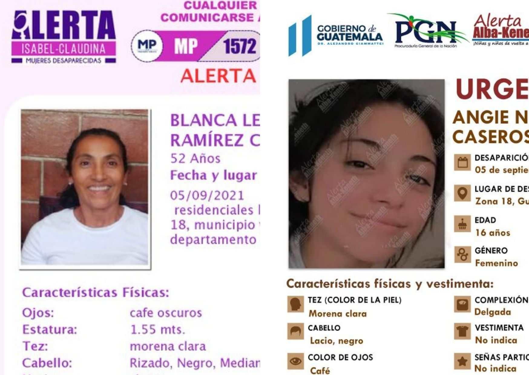 Detalles del día en que Blanca Ramírez y su hija Angie Nicole desaparecieron - prensa Libre