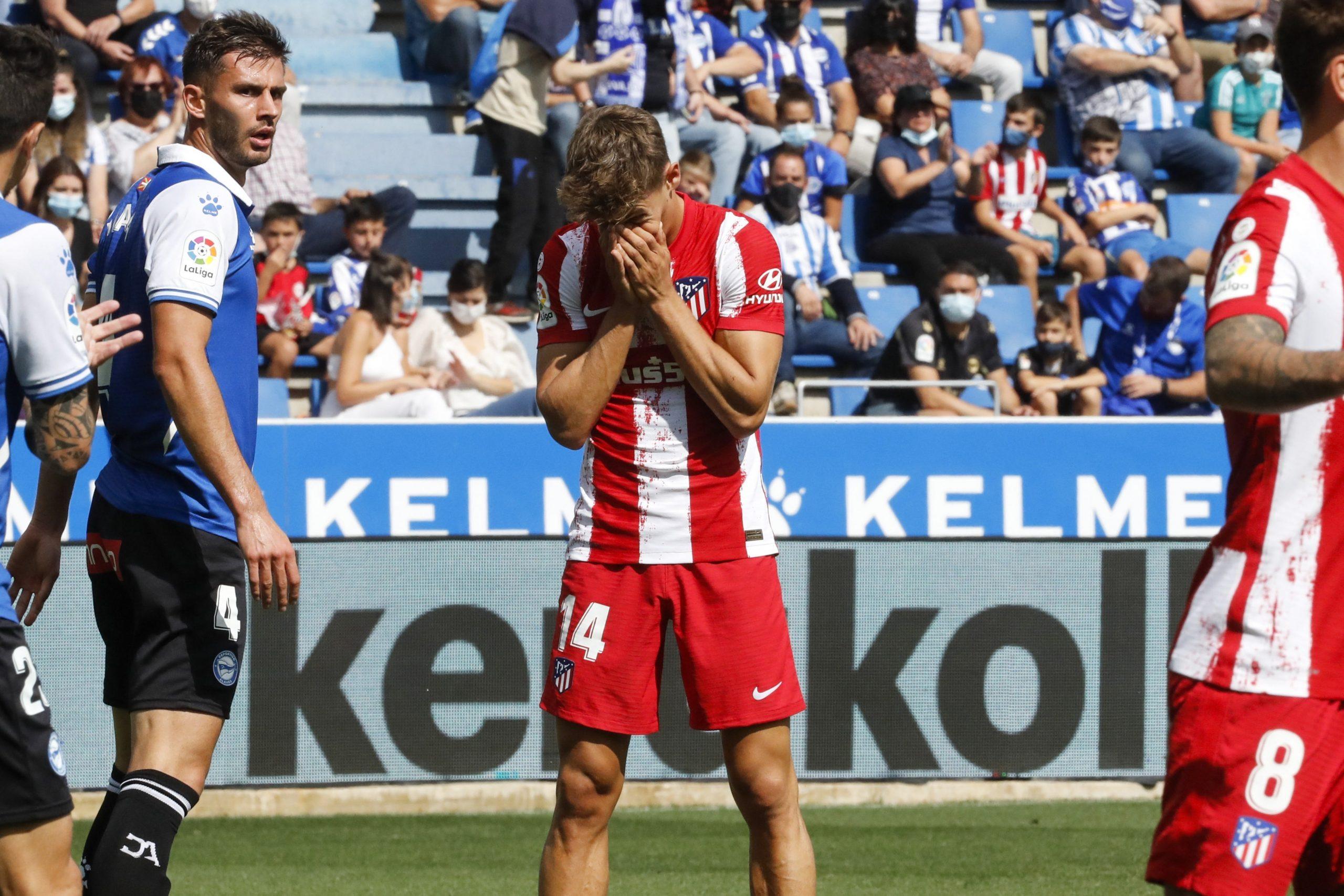 El primer tropiezo del Atlético de Madrid en la Liga esta temporada - prensa Libre