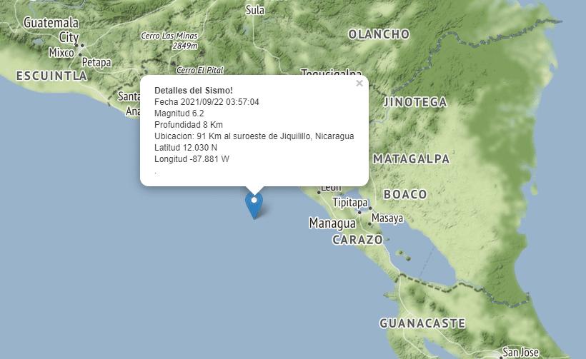 Ineter registra más de 30 terremotos en Pacífico nicaragüense