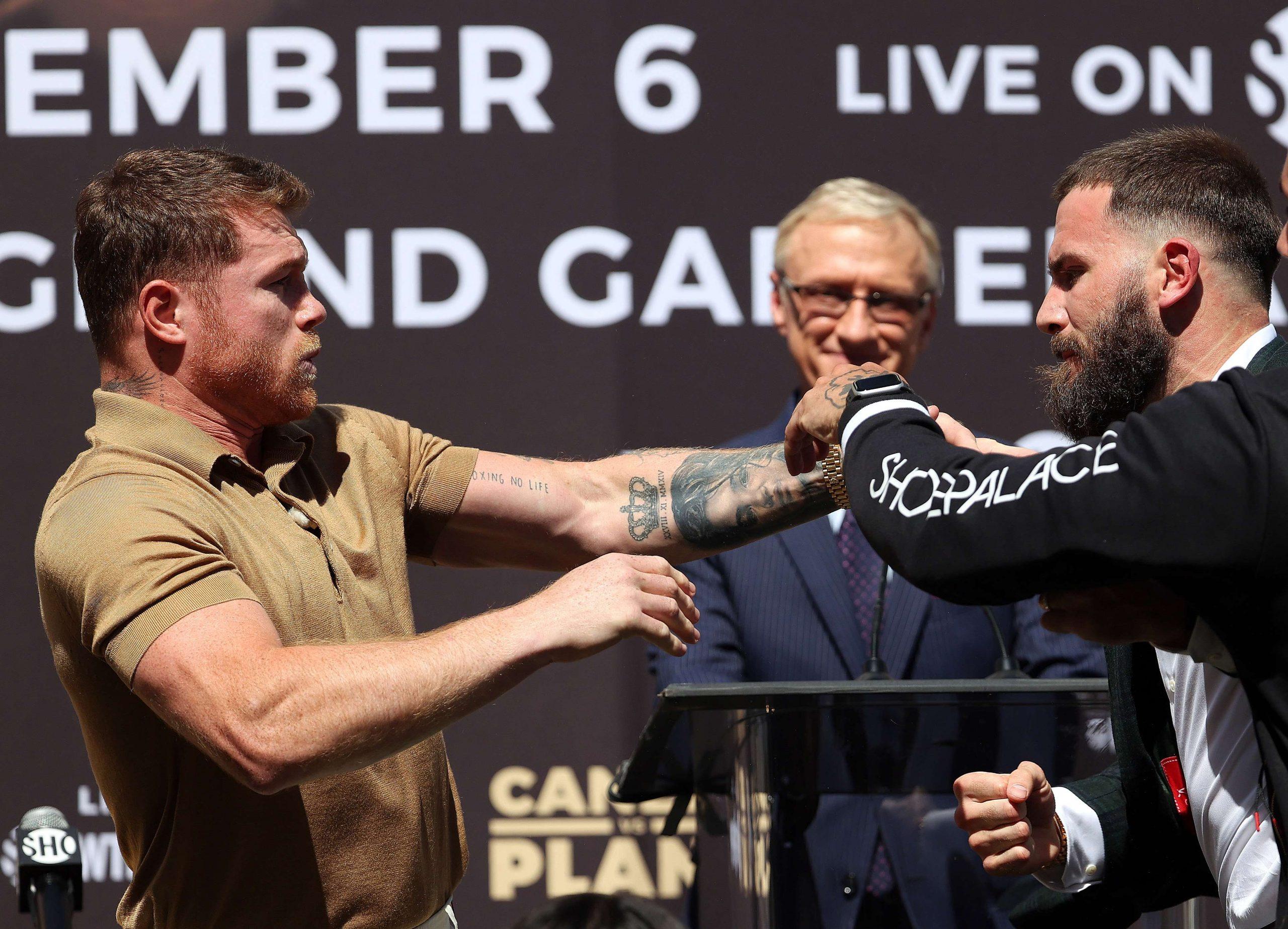 Plant y 'Canelo' Álvarez intercambian golpes antes de la pelea de noviembre - Prensa Libre