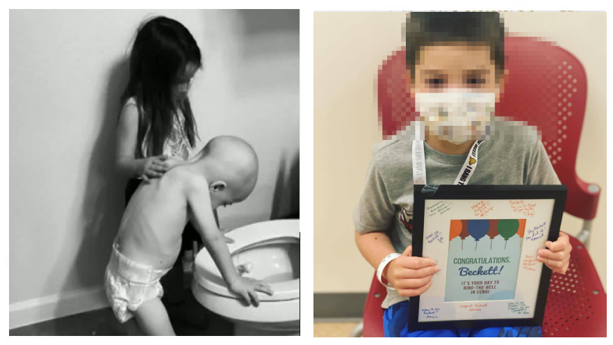Beckett, el niño con cáncer que fue consolado por su hermana en una foto que se viralizó, venció la enfermedad - Prensa Libre