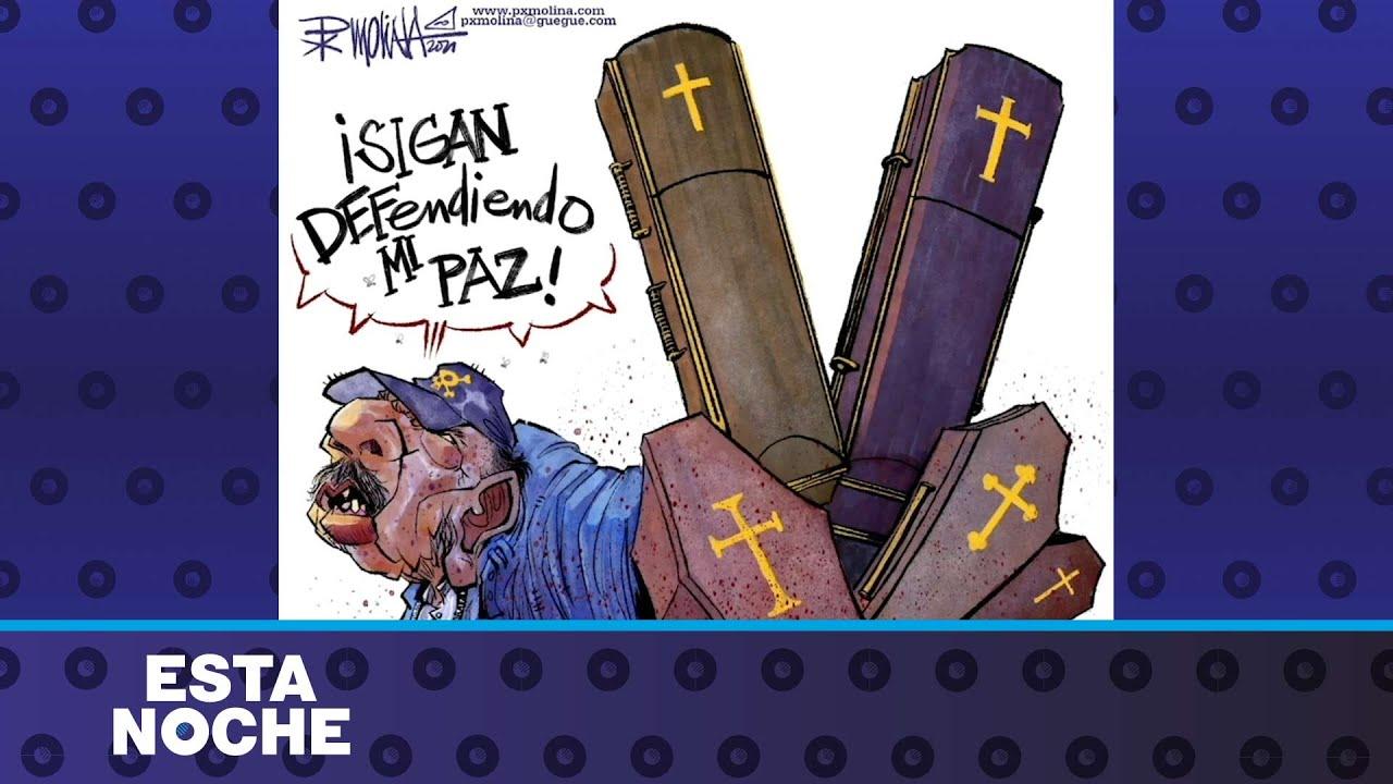 Caricatura de PXMolina: La paz de Ortega-Murillo