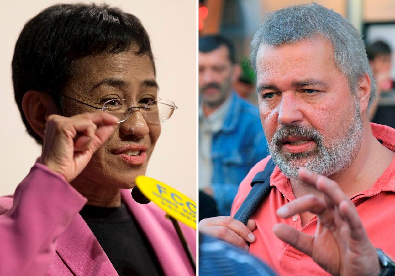 El Premio Nobel de la Paz es para dos periodistas, Rusia y Filipinas