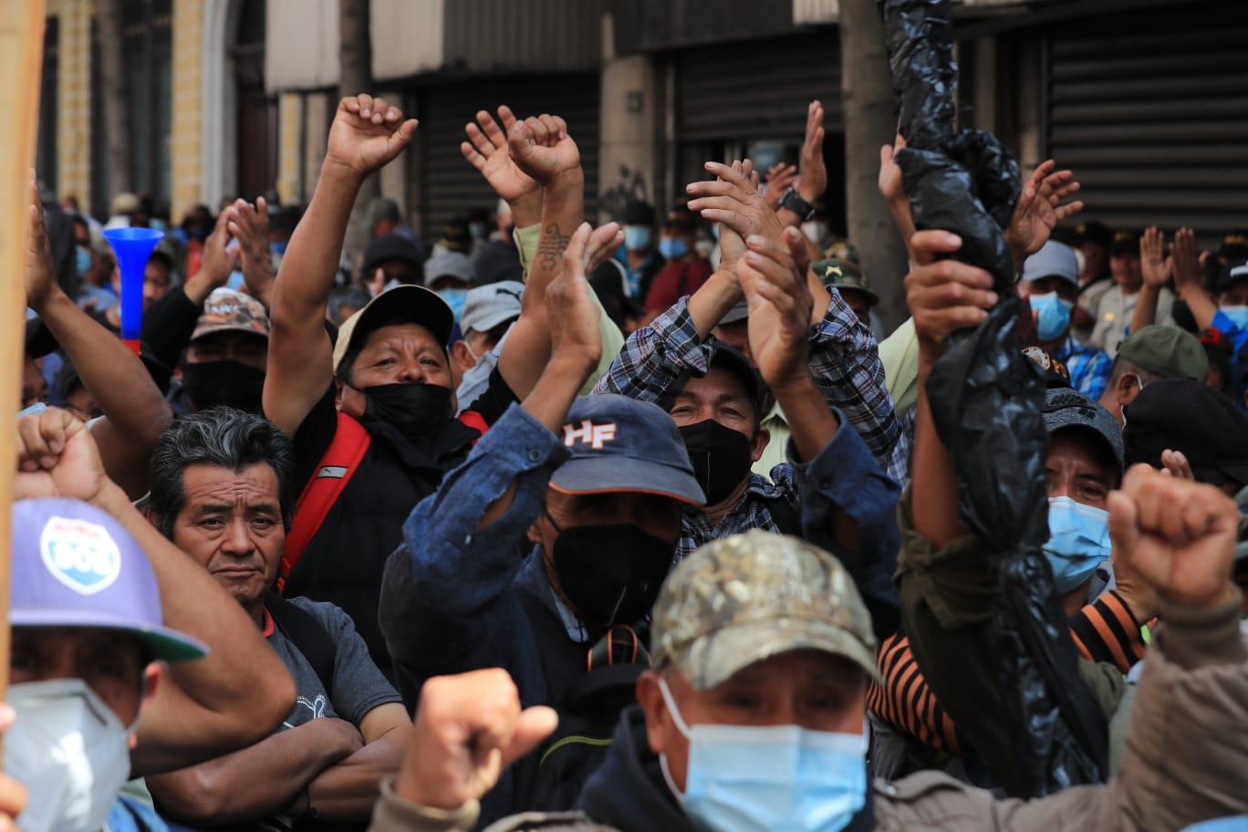 Estos son los puntos tomados por veteranos militares este jueves - Prensa Libre