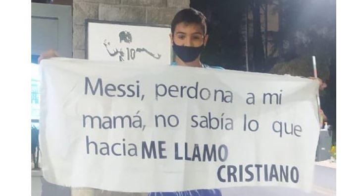 Niño se disculpa con Leo Messi por llevar el nombre de Cristiano Ronaldo