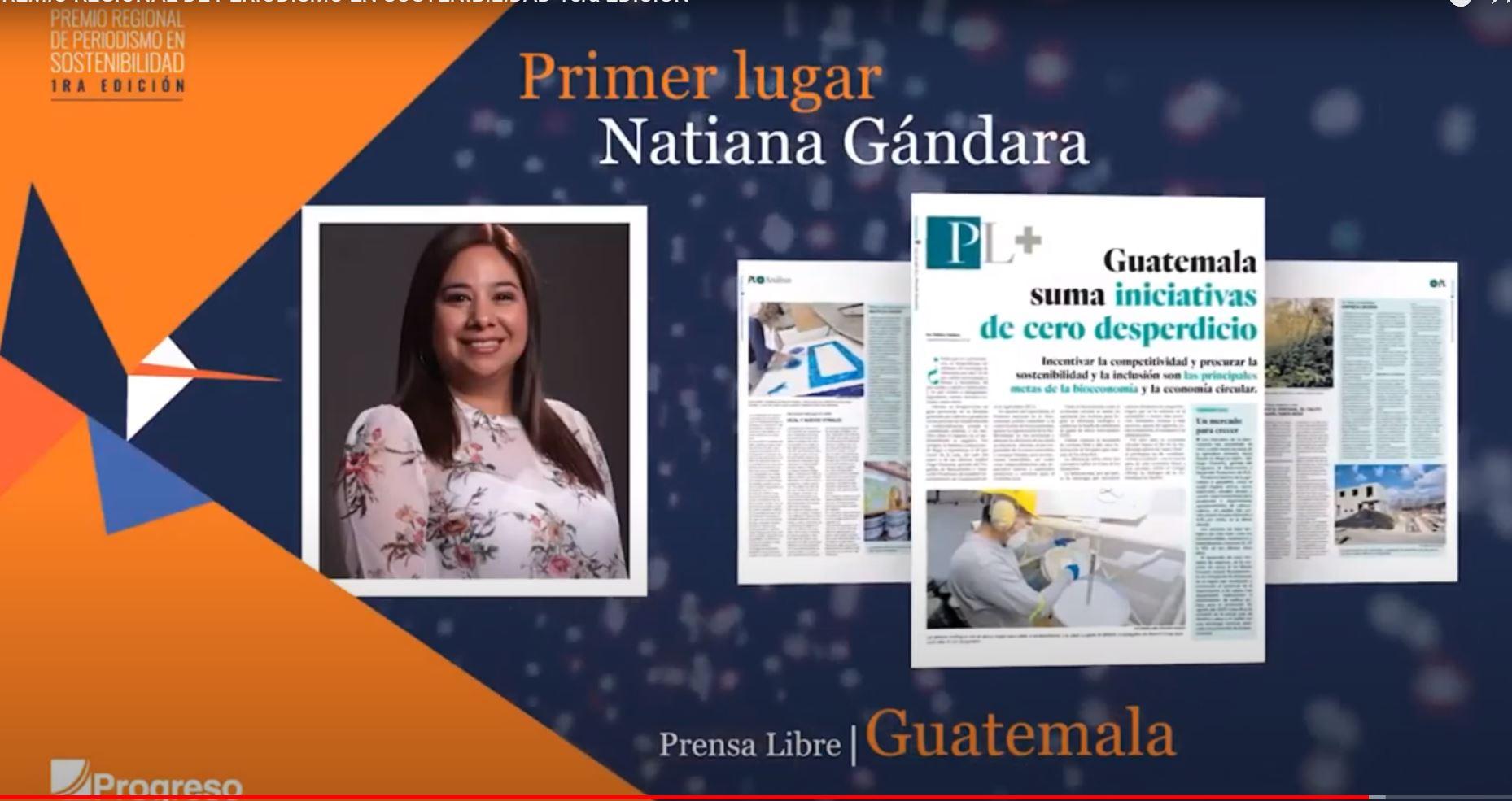 Periodista de Prensa Libre gana premio regional de sostenibilidad por informe Residuo Cero - Prensa Libre