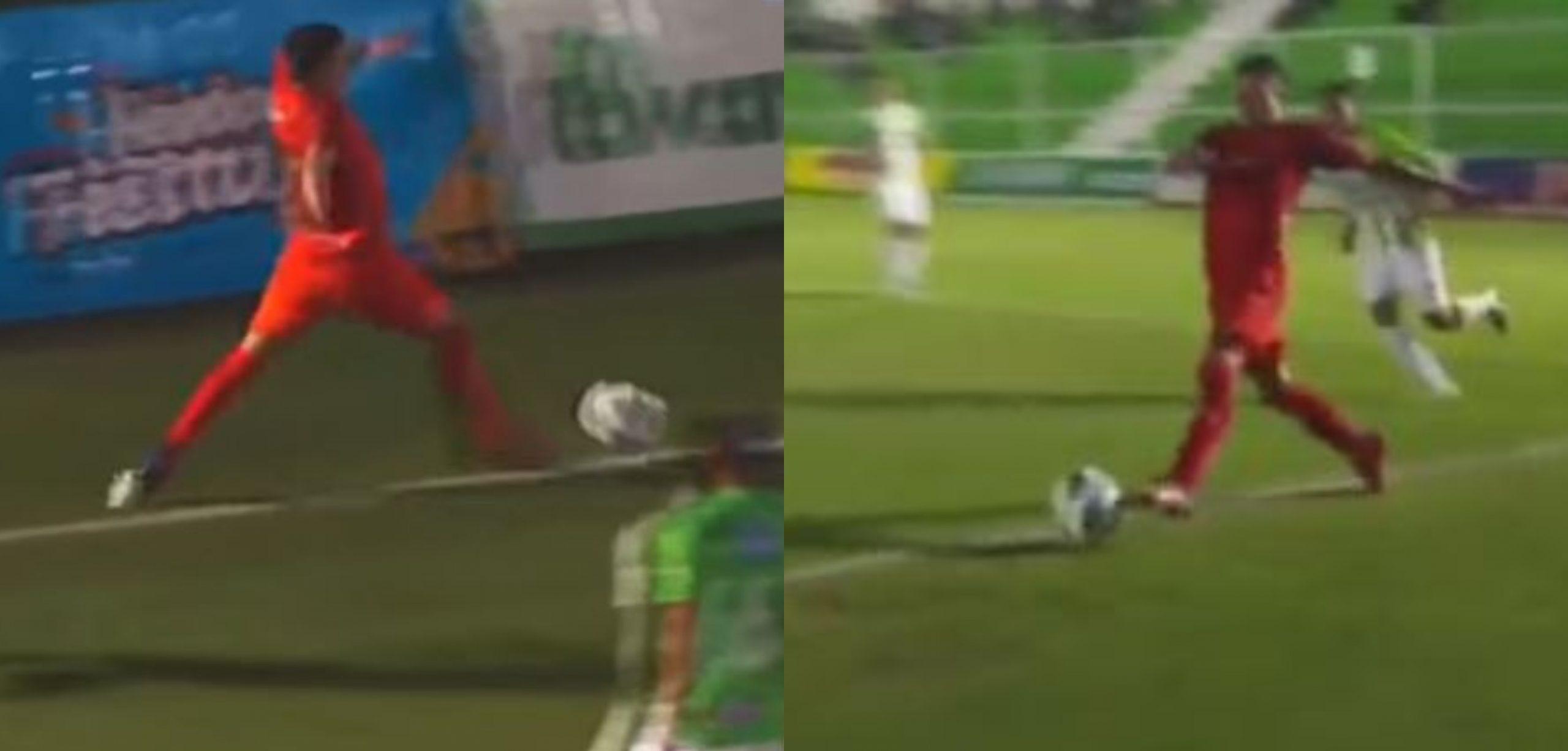 Rudy Barrientos de Municipal anotó un gran gol contra Antigua, pero el juego tuvo que ser invalidado - Prensa Libre