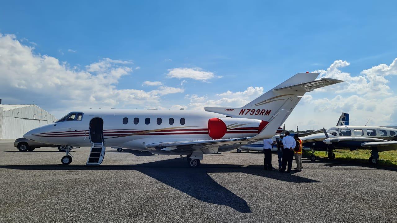Se apoderan de un avión perteneciente a la familia del expresidente de Panamá, Ricardo Martinelli, que fue incautado en el aeropuerto de la Aurora - Prensa Libre