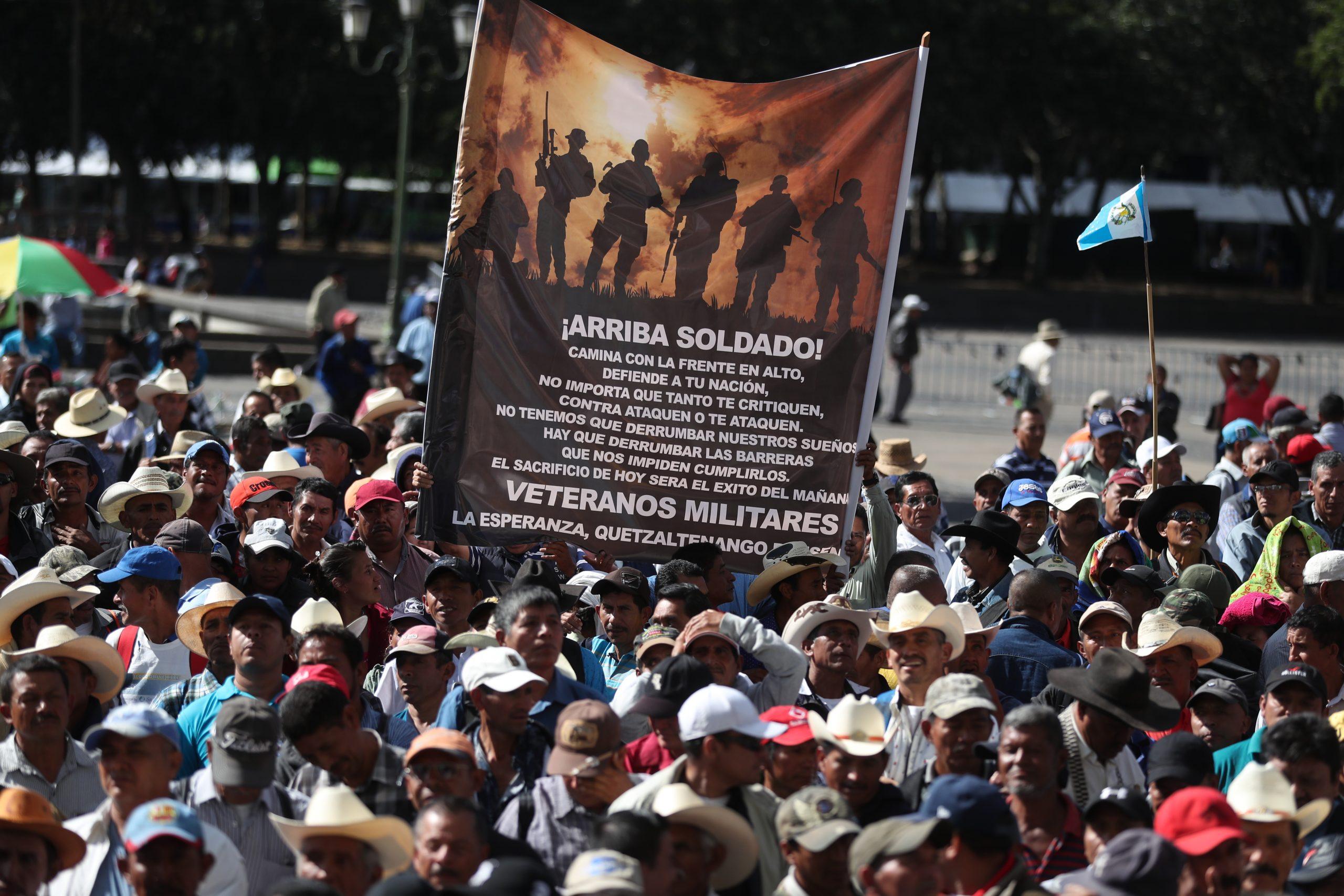 Veteranos militares anuncian protestas en el país miércoles, jueves y viernes - Prensa Libre
